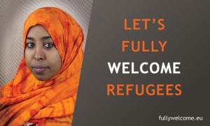 laten we vluchtelingen welkom heten in Europa